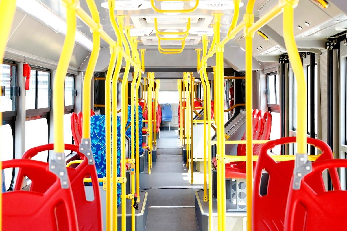 The BYD K12A all-electric bus can carry up to 250 passengers