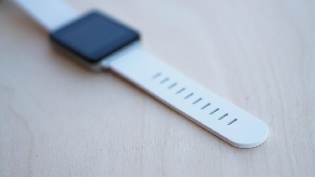 The G Watch has a rubbery band (also available in black)