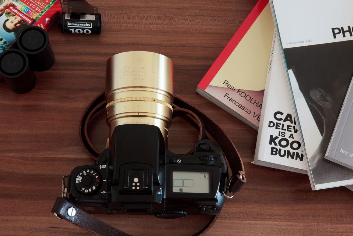 The Lomography New Petzval 58 Bokeh Control Art Lens allows users to control the level of swirly bokeh created