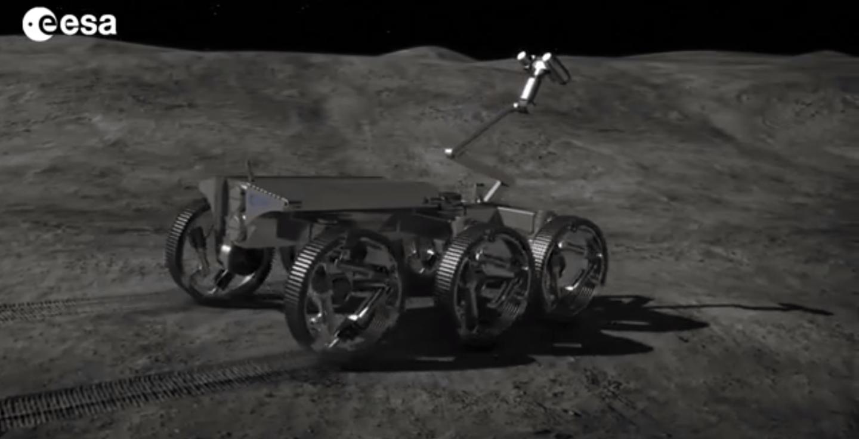 Concept rendering of a future lunar rover robot