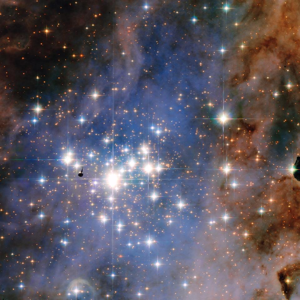 Composite image of the Trumpler 14 star cluster
