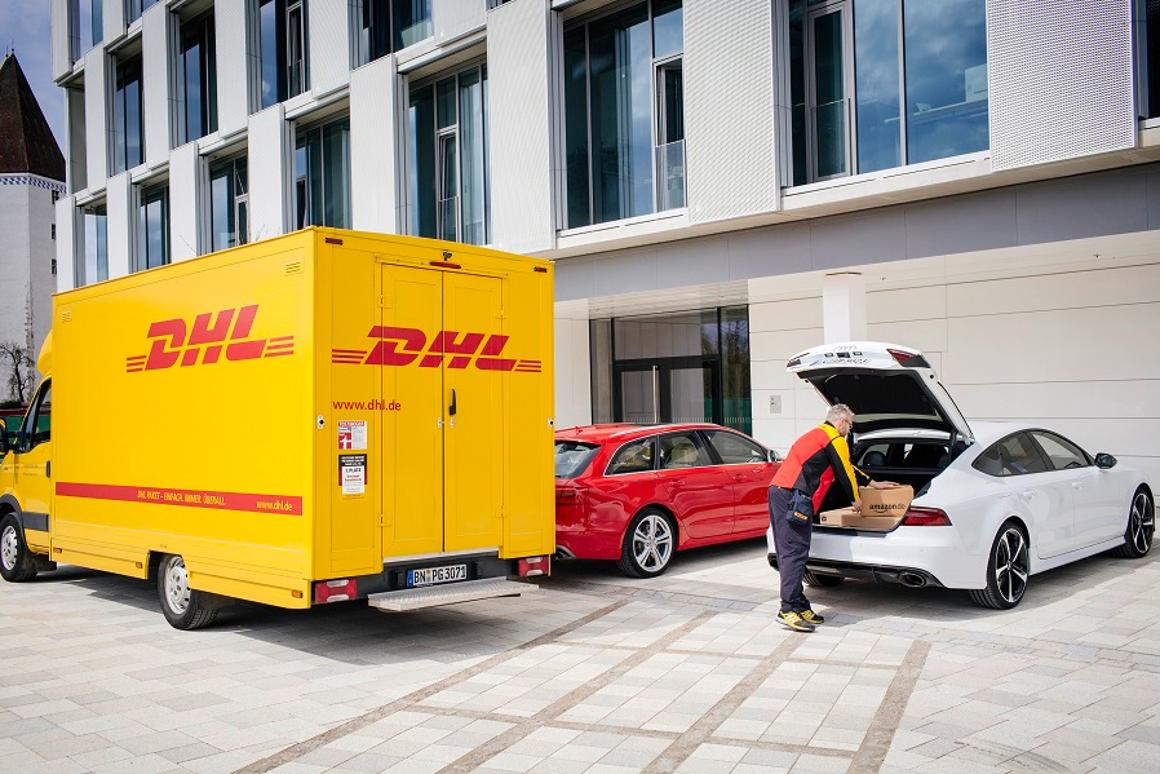 A digital code will provide DHL couriers with temporary access to the trunk of a recipient's car so that a package can be deposited
