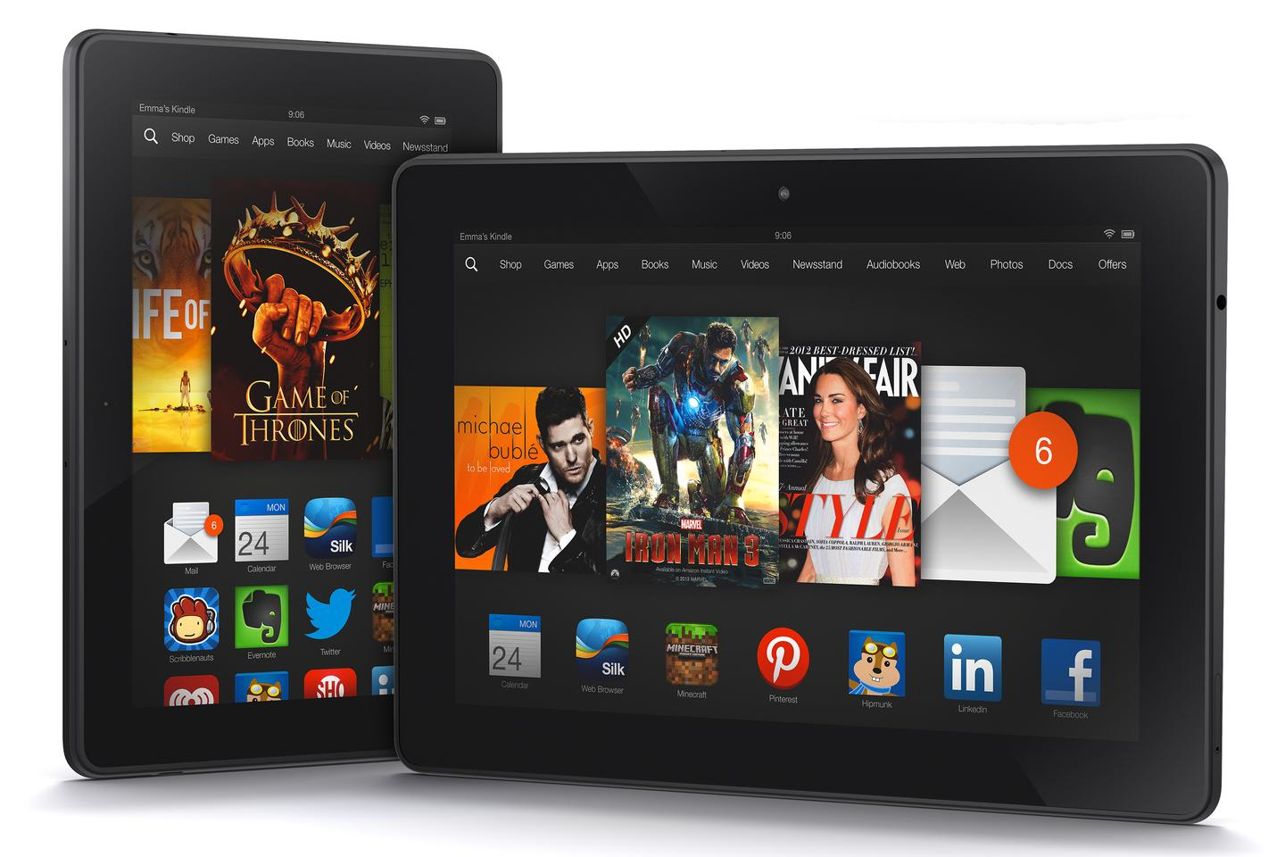 The new Amazon Kindle Fire HDX and HDX 8.9