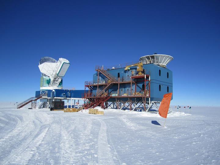The BICEP2 facility at the South Pole has discovered compelling evidence for quantized gravity and cosmic inflation (Photo: Harvard-Smithsonian Center for Astrophysics)