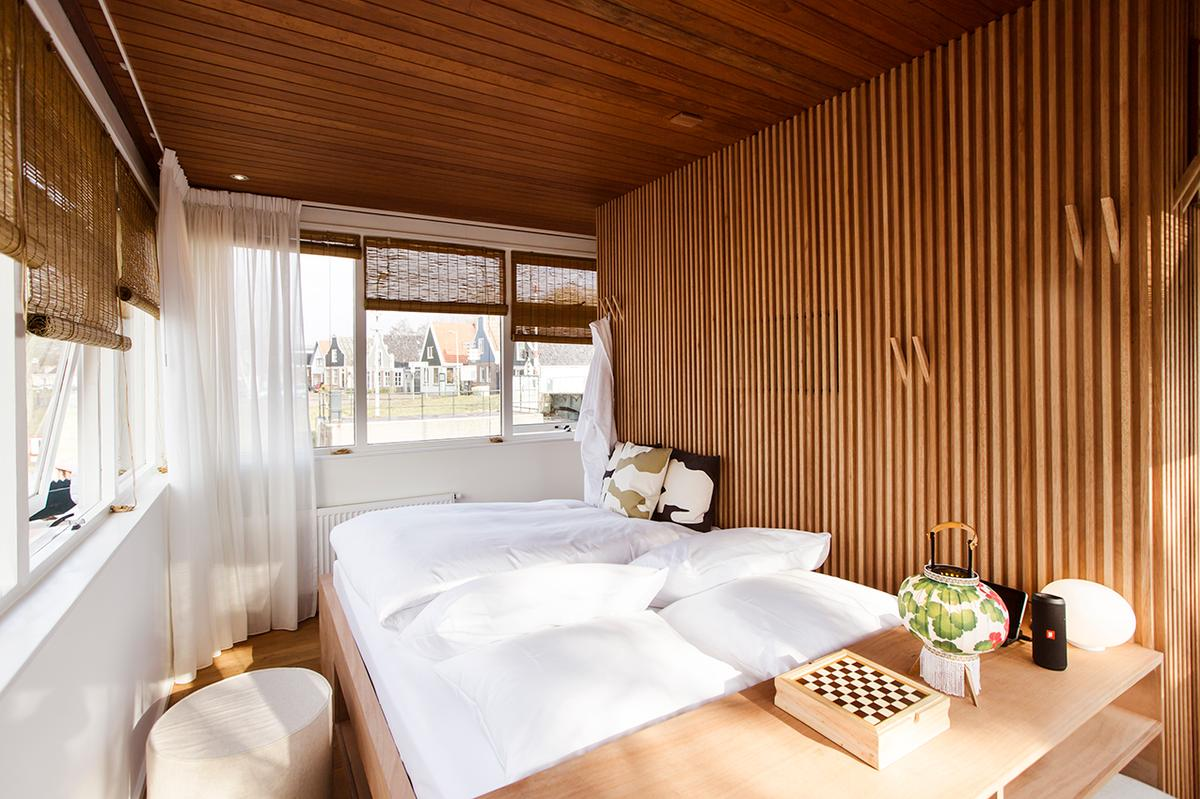 Inside the Sweets Hotel, a guesthouse perched atop a bridge over an Amsterdam canal