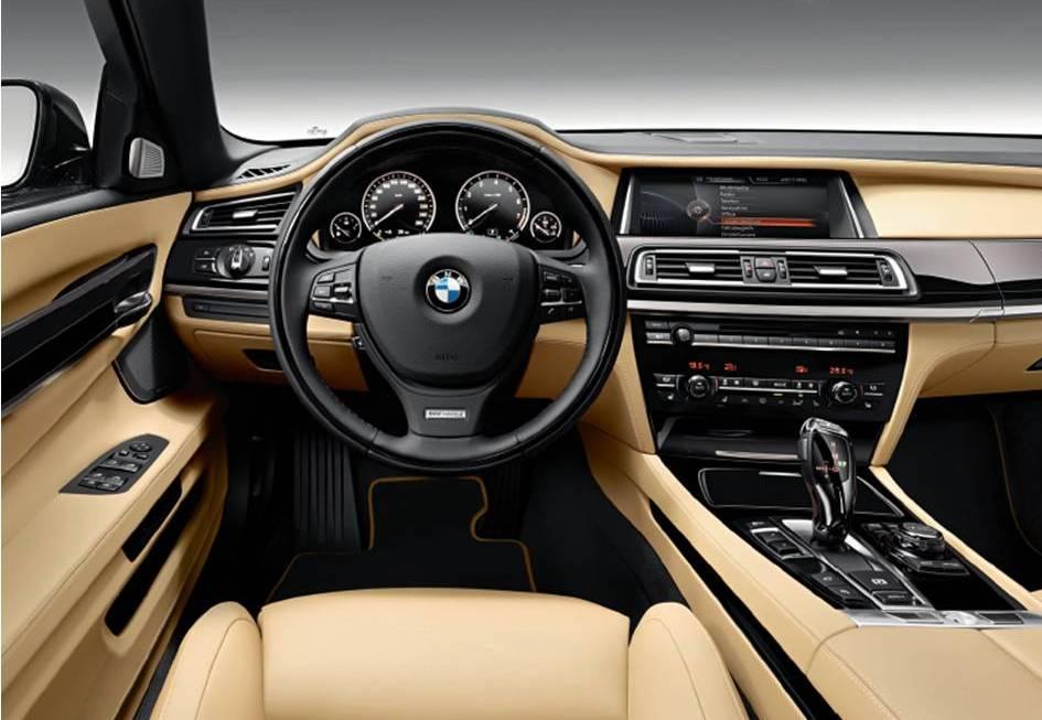 "Cockpit of the ""V-12 25 Years Edition"" 760Li (Image: BMW)"