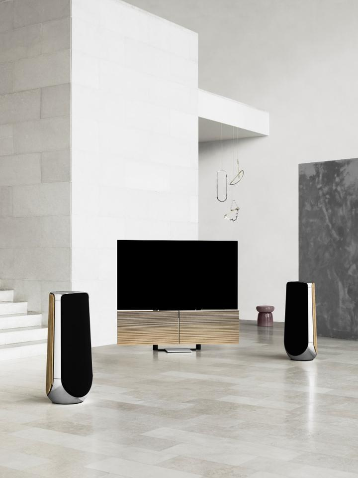 The Beovision Harmony is sure to be a conversation starter in any well-heeled home