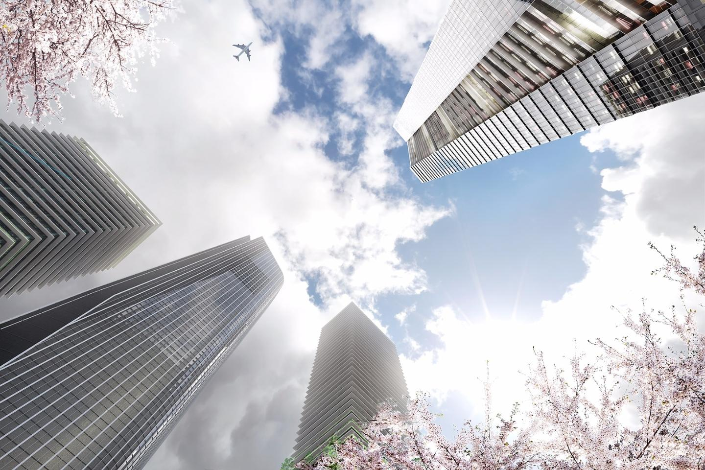 The Toranomon Hills Business Tower is designed by German architect Christoph Ingenhoven