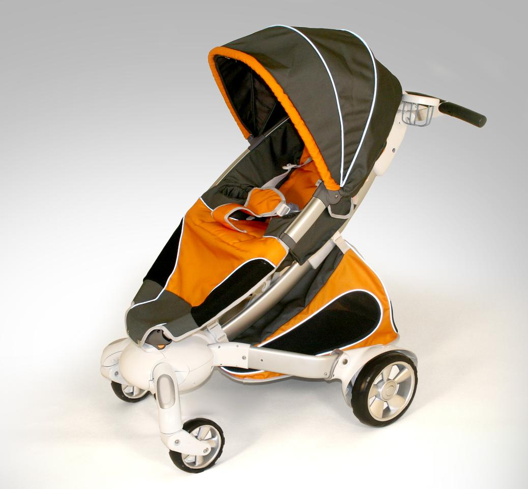4 Moms Origami stroller is self-folding, has an in-built generator and an LCD display