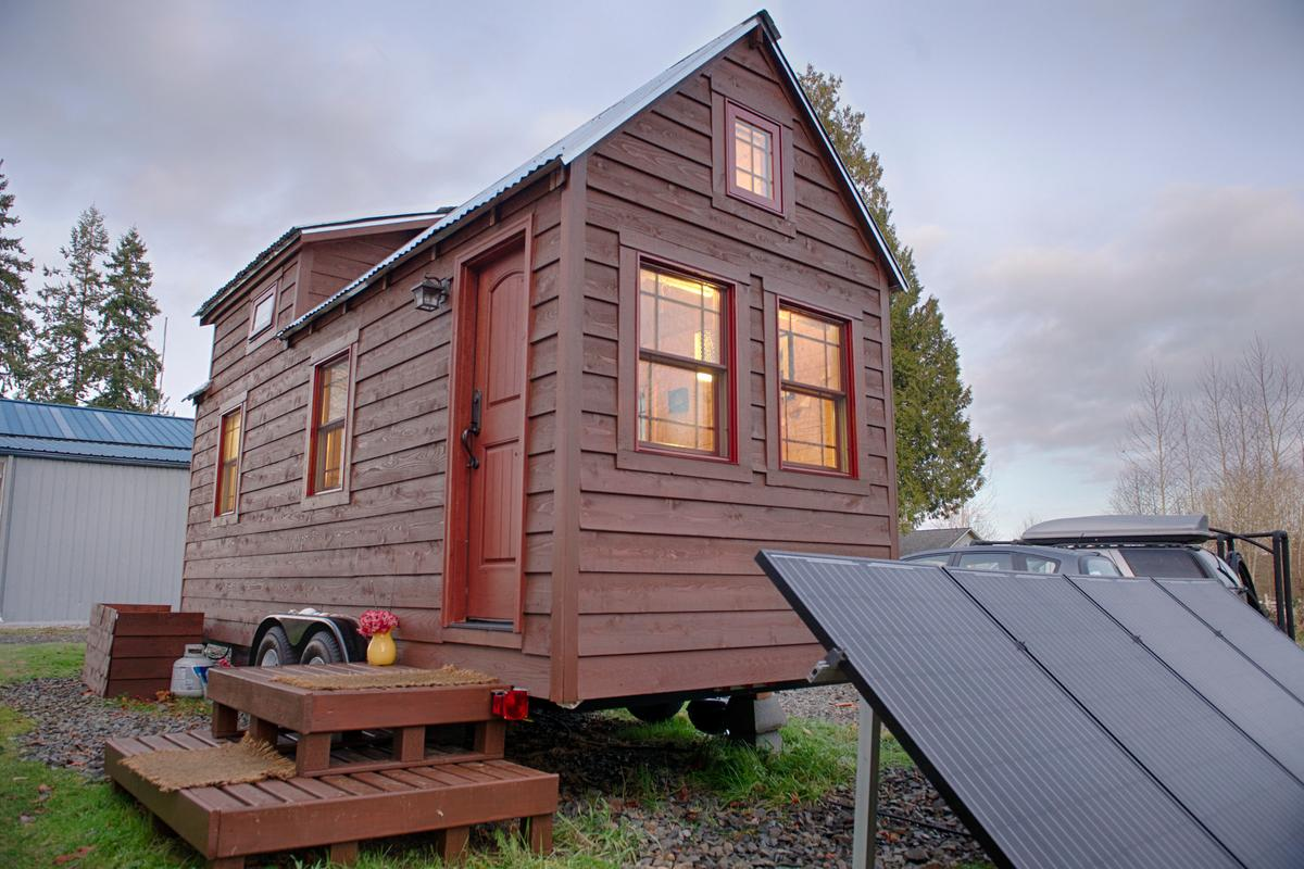 The Tiny Tack House designed and built by Christopher and Malissa Tack (Photo: Christopher Tack)