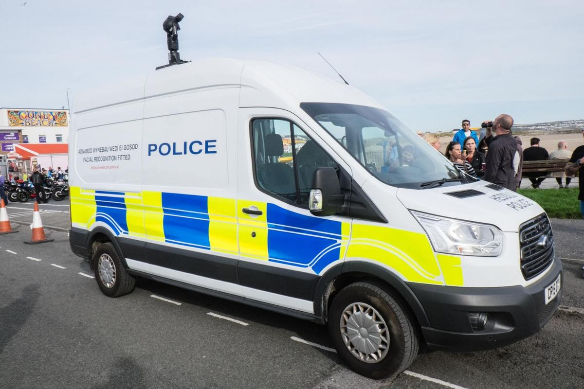 A facial recognition van deployed by South Wales Police in the United Kingdom