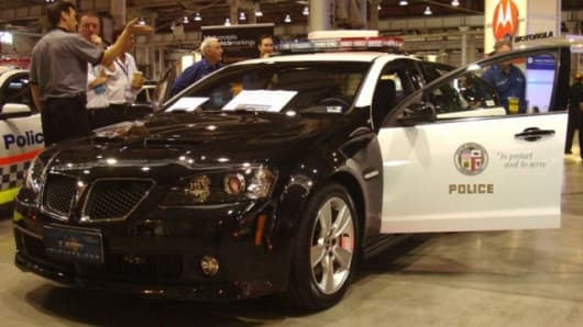 The LAPD Pontiac G8 project vehicle