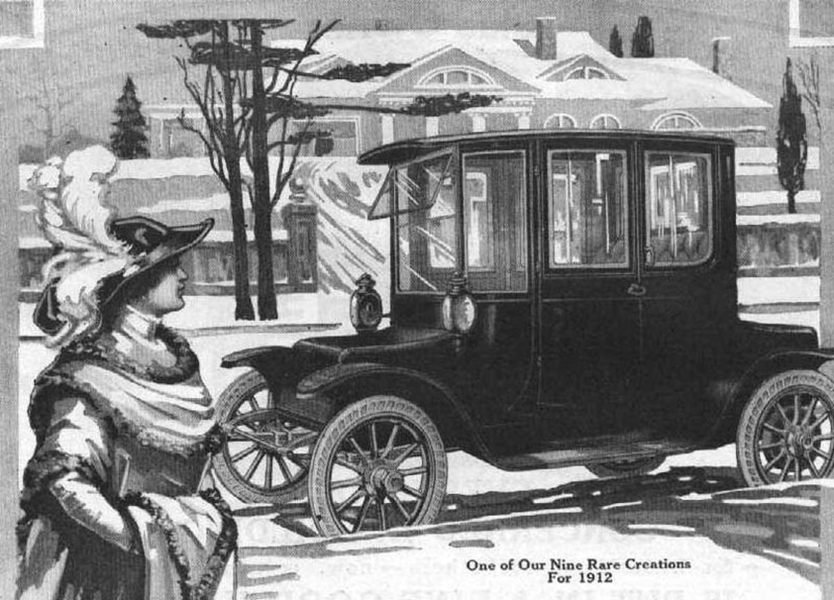 A 1912 advertisement for the Detroit Electric