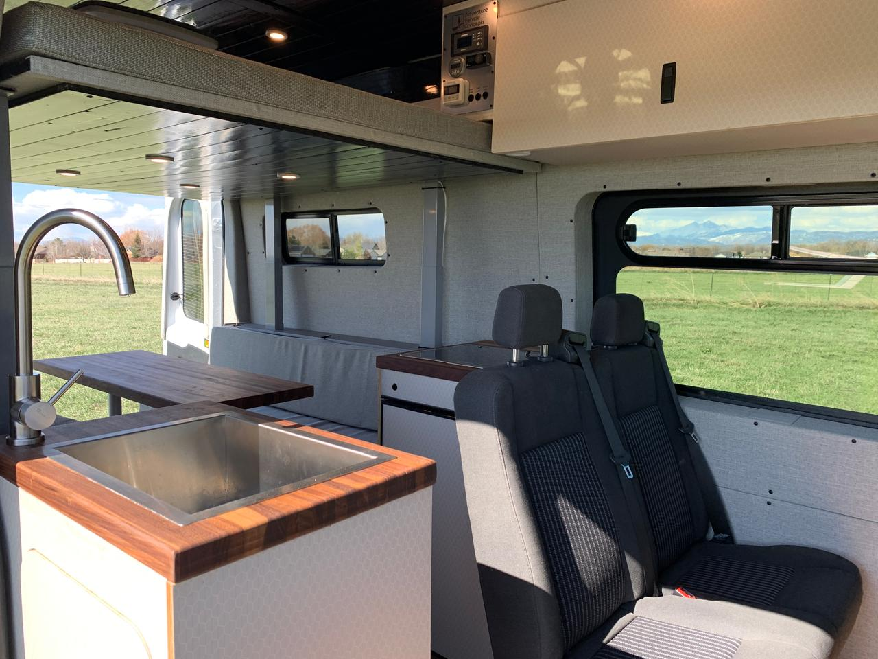 A look inside the four-seat, four-berth AVC Base Camp
