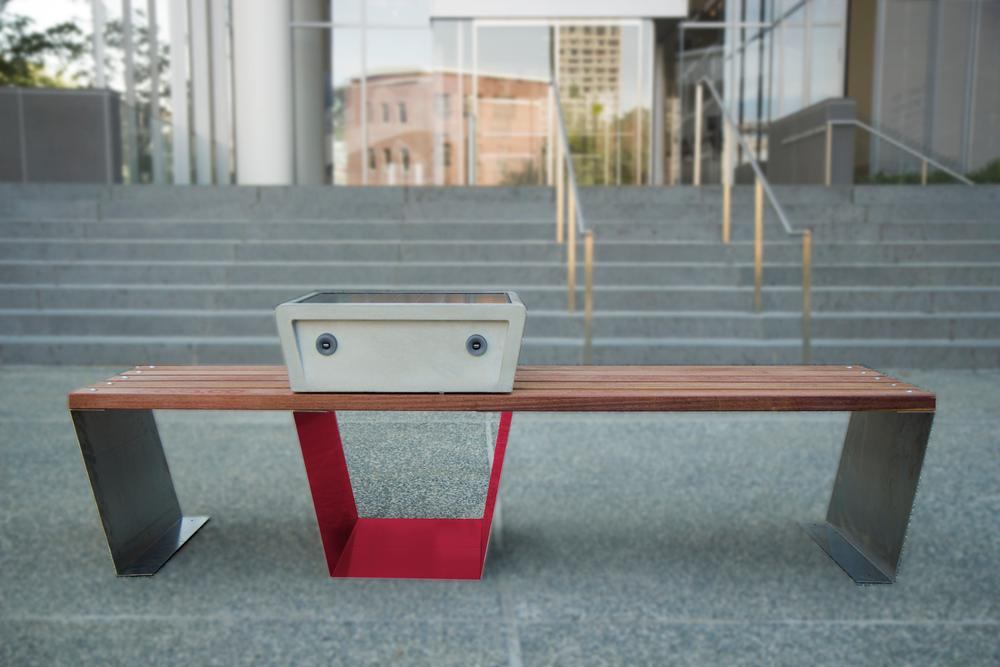 A Soofa representative informed Gizmag that the benches offer mobile devices the same charging speed as at home (Photo: Soofa)