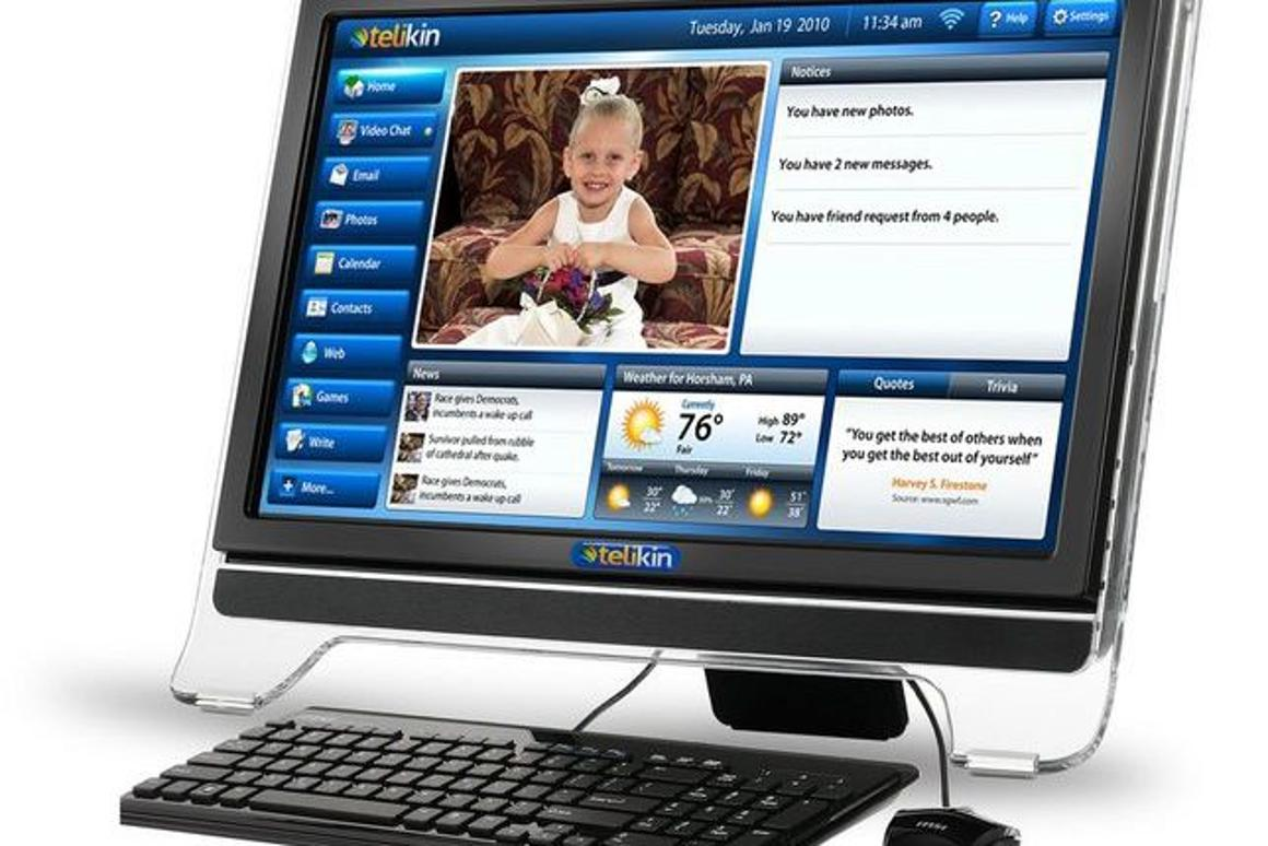 The Telikin is a new touchscreen family computer aimed at older users, designed to make every-day tasks such as photo-sharing and email as easy as possible