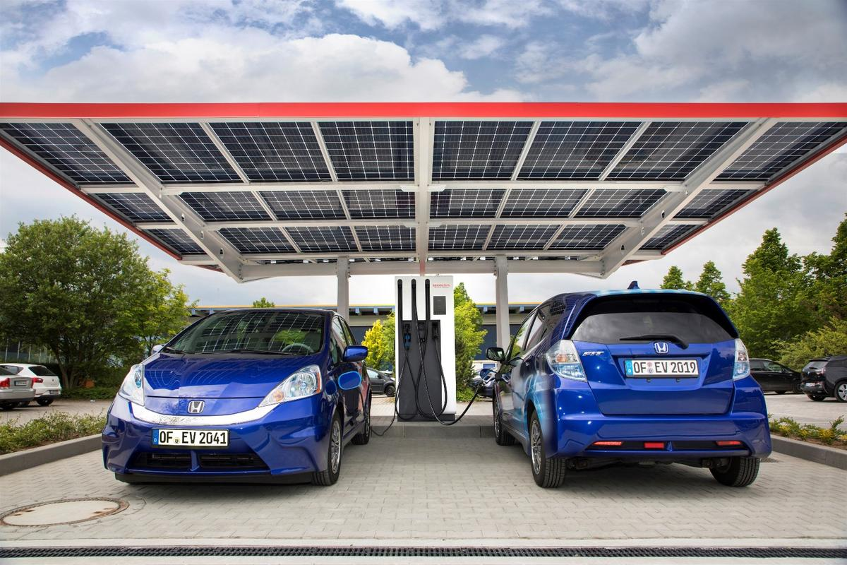 """The new facility in Offenbach, Germany is being billed as the """"most advanced public charging station"""" in Europe"""