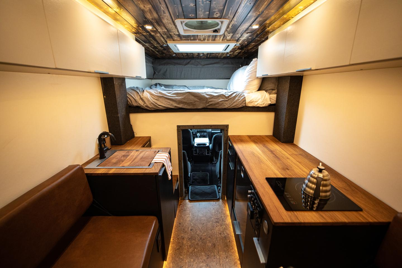 Rossmönster Baja camper truck interior