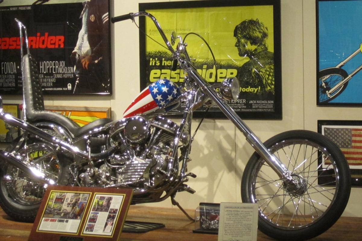 The Captain America machine has spent quite some time on display at the National Motorcycle Museum in Anamosa, Iowa and this image is courtesy of the museum. The Captain America Chopper will now sit atop our Top 100 most expensive motorcycle list, and we're predicting that it will be there for quite some time.