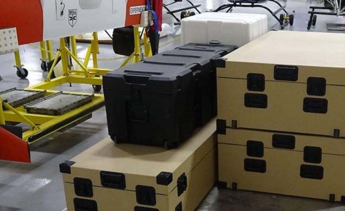 The APT can carry two standard tactical boxes