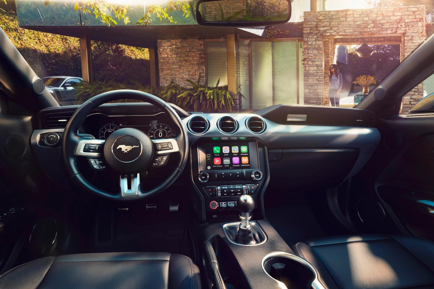 Inside, the Mustang has some styling changes focused mainly on materials choices and comfort options