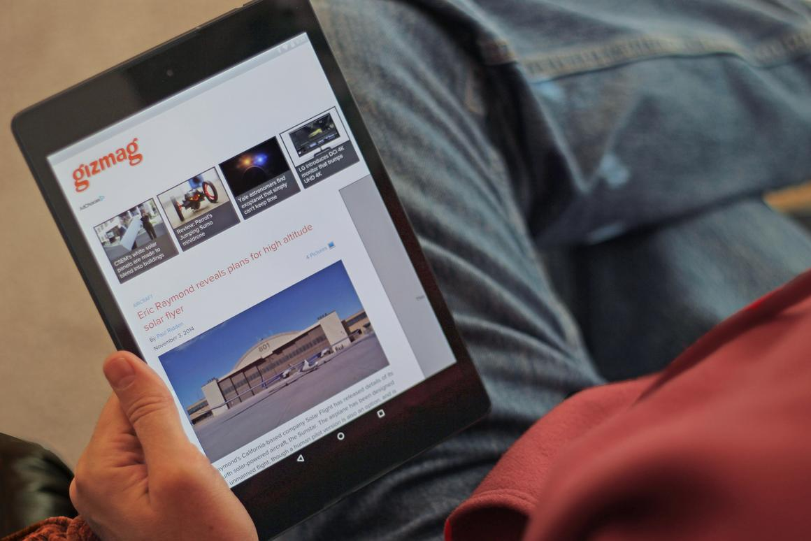 Gizmag reviews the latest Nexus tablet, the HTC/Google Nexus 9 (Photo: Will Shanklin/Gizmag.com)
