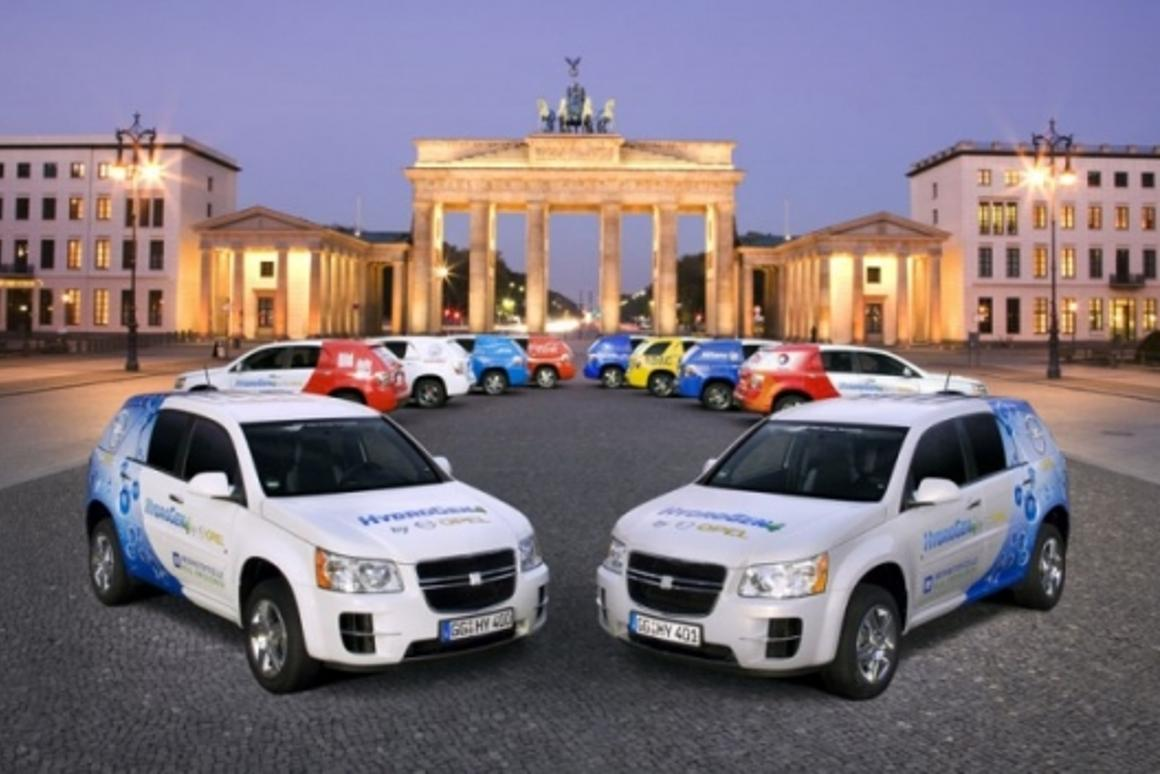 GM HydroGen4 fuel cell vehicle in Berlin