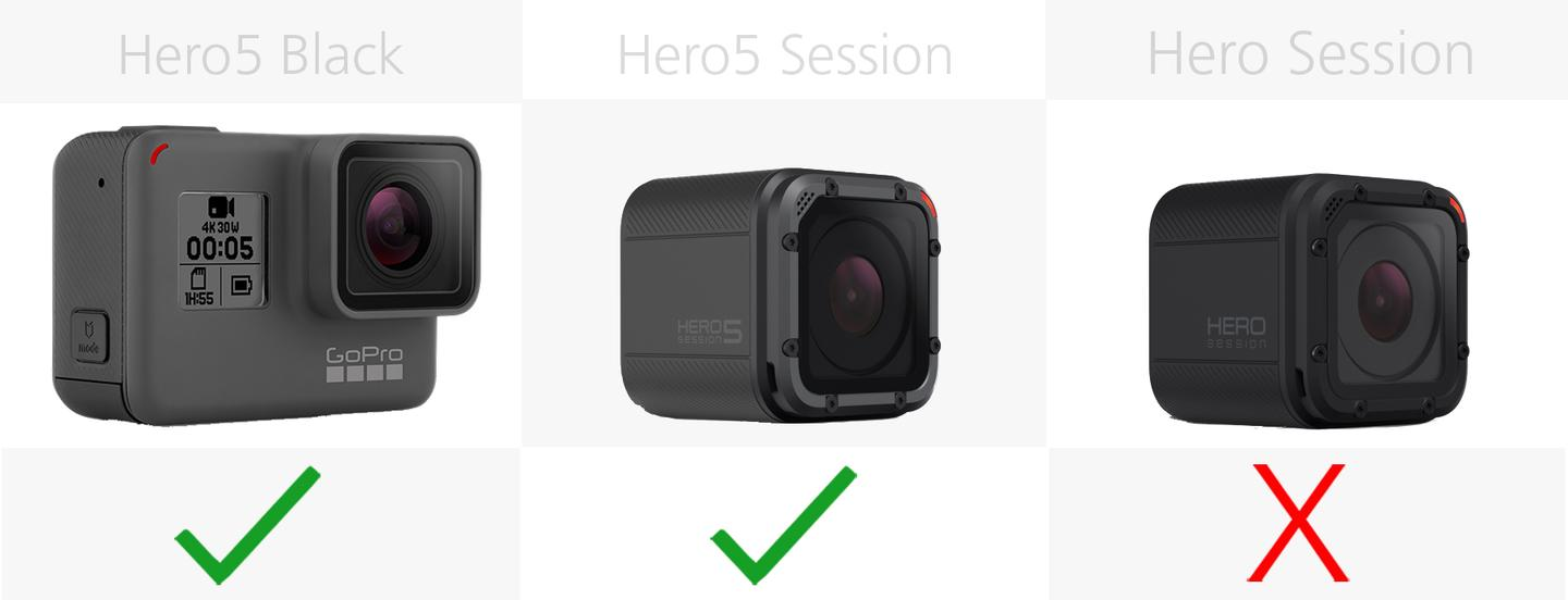 Comparing the current GoPro cameras: Hero5 Black vs. Hero5 Session, Hero  Session
