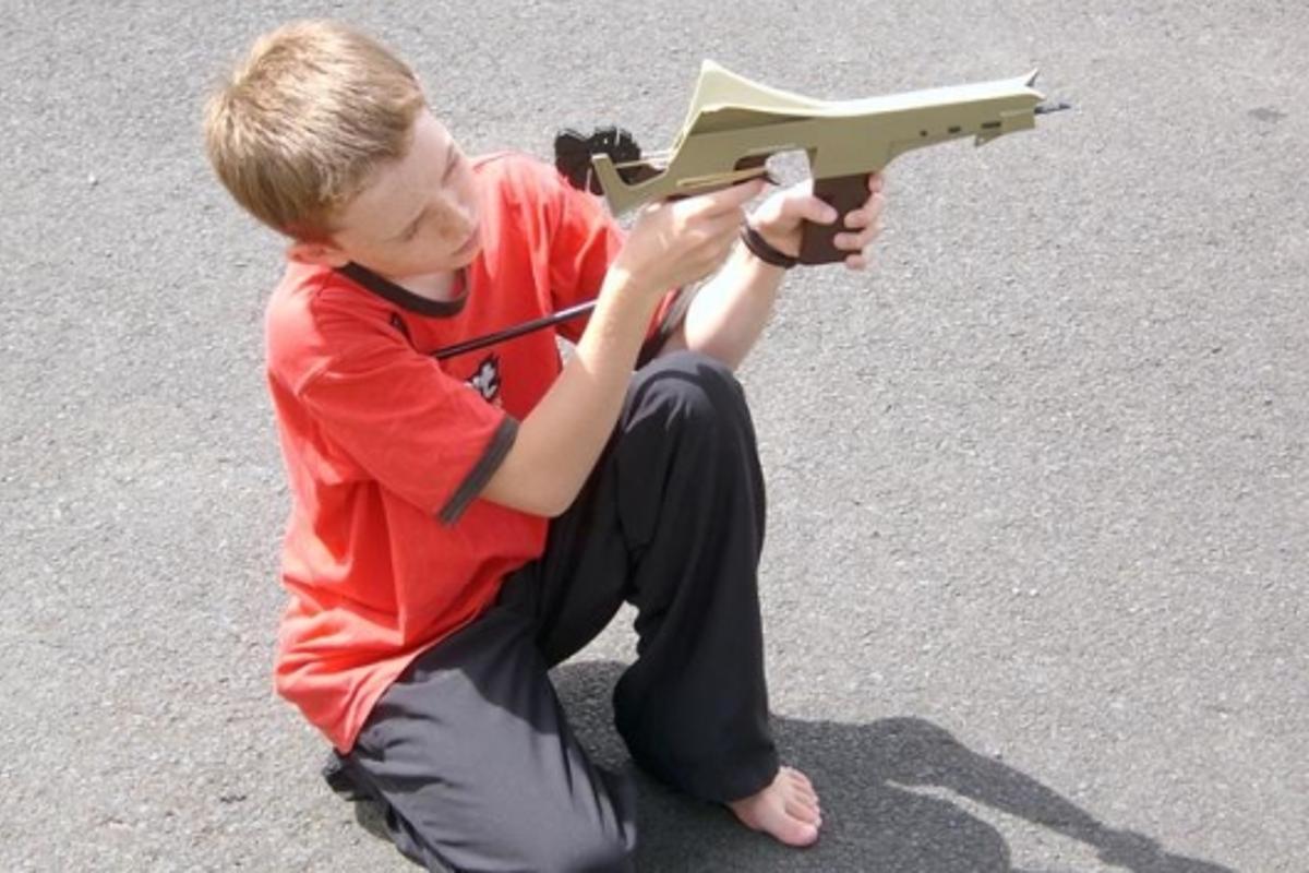 George takes aim