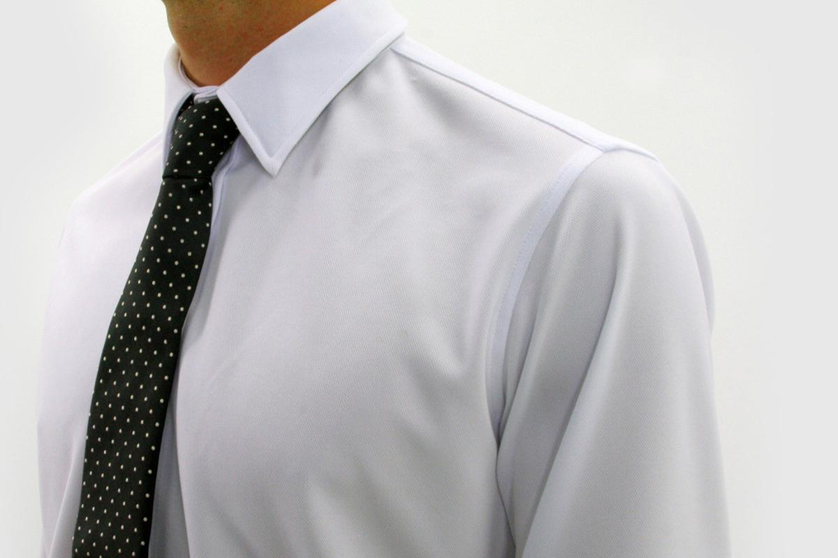 The Apollo dress shirt from Ministry of Supply uses NASA space suit technology to regulate body temperature, while also keeping wearers dry and odor-free