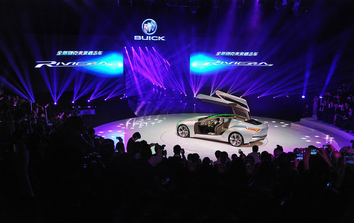 The Buick Riviera concept debuts at the 2013 Shanghai Auto Show