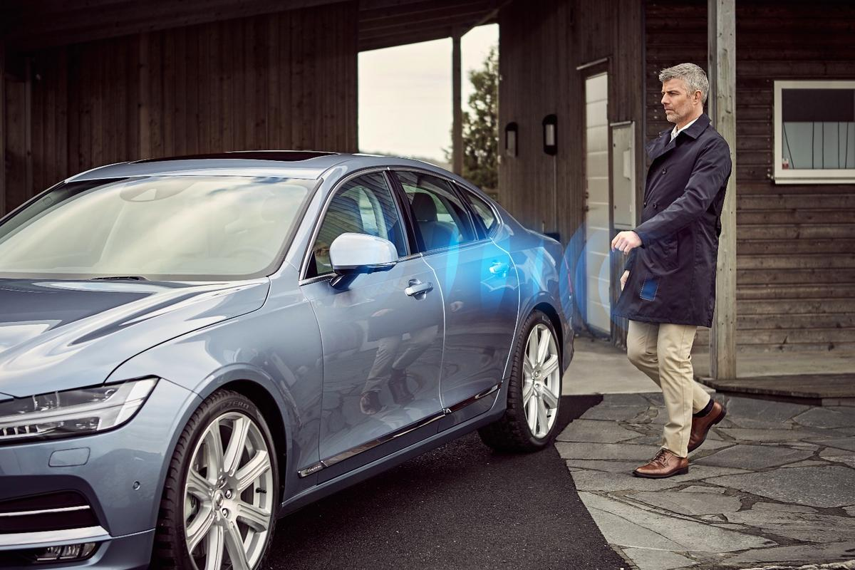 The Bluetooth signal from users' phones will automatically unlock their Volvo as they approach