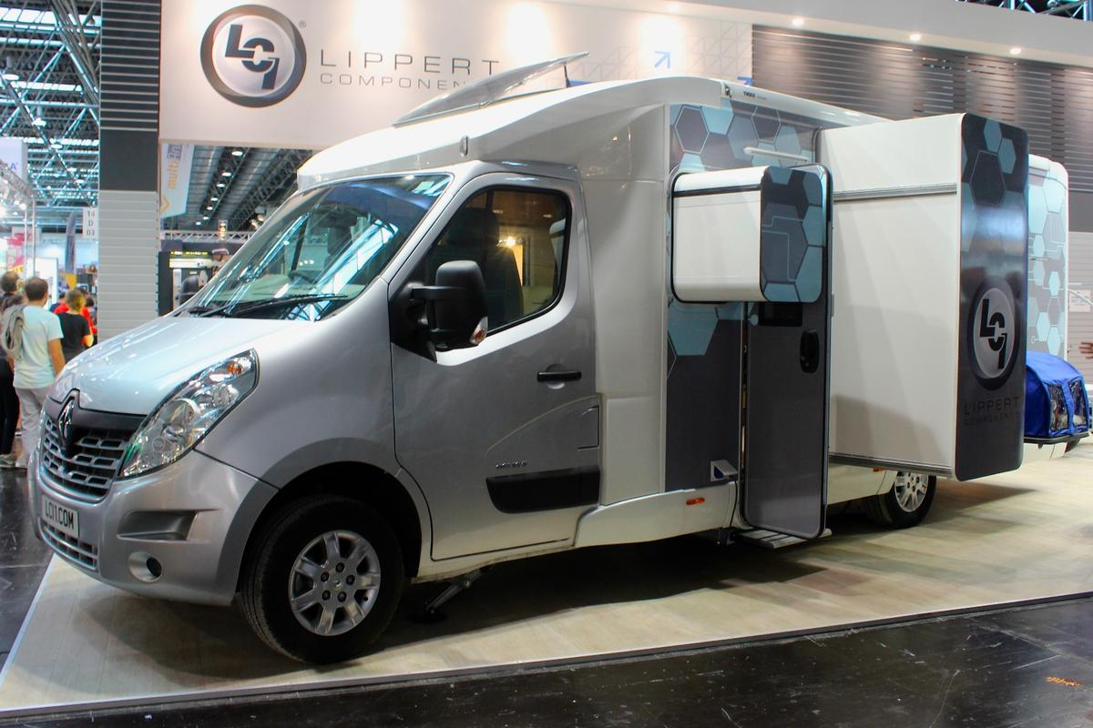 The Lippert slide-out motorhome concept pops to life