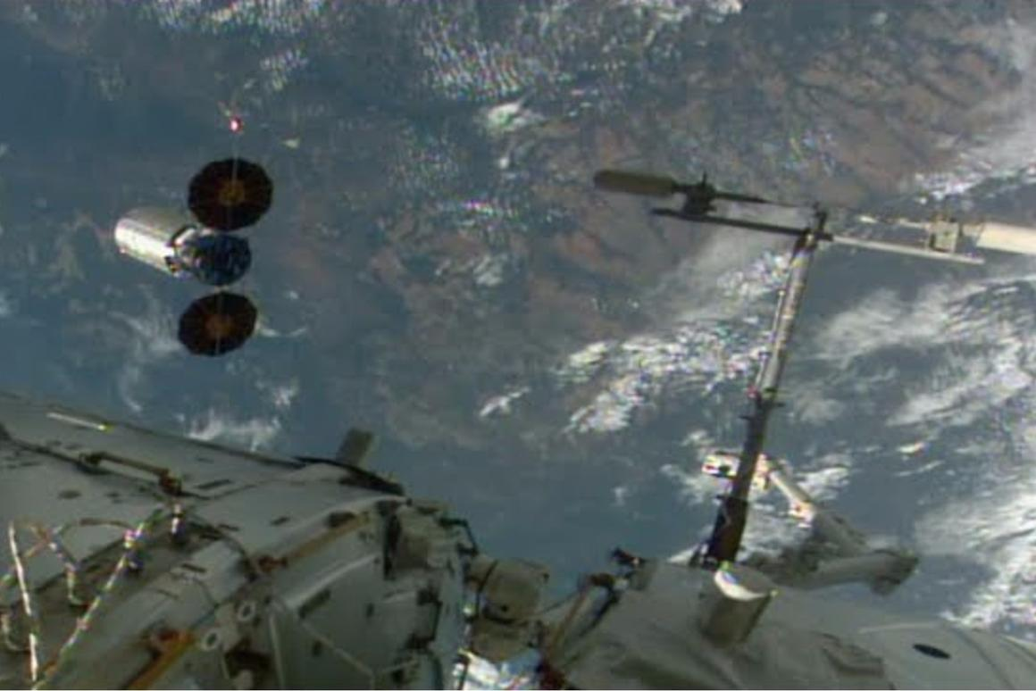 The fire safety experiment took place after the Cygnus cargo ship left the ISS