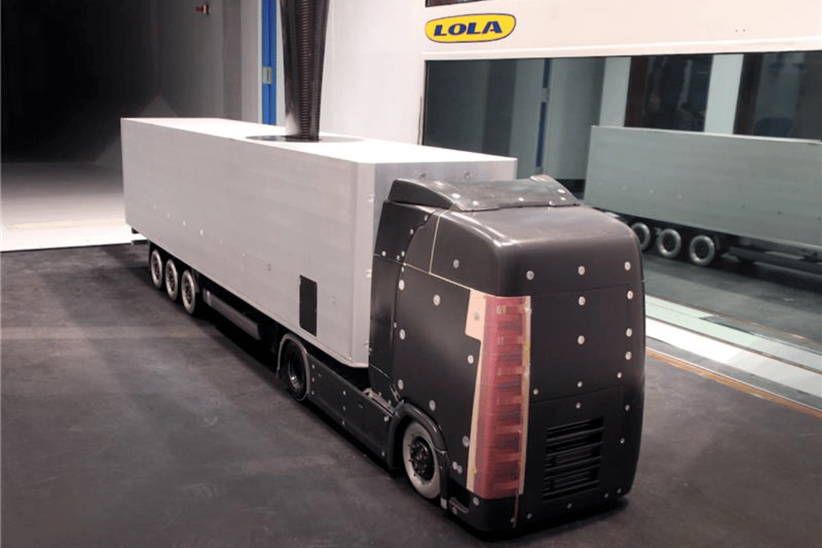 KTH is testing a system the uses electric winds to reduce fuel consumption in trucks