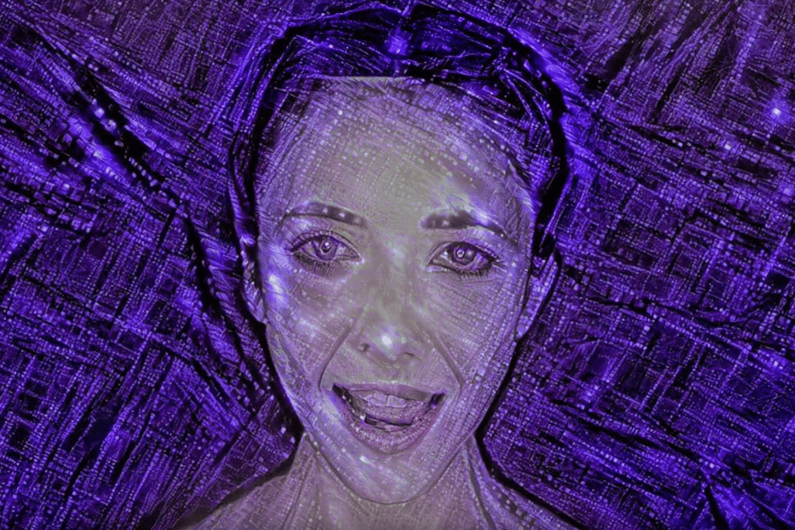 "A still from the music video for the new single ""Break Free"" that features music entirely composed and produced by an artificial intelligence system"