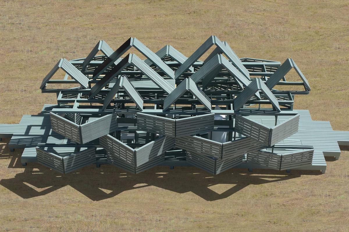 The Malleable Autonomous Retreat House is a concept at present, but Jantzen tells us that he hopes to eventually build it