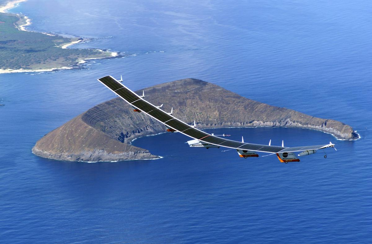 Alta Devices' Anylight Solar for HALE product is targeted at solar-poweredaircraft, like NASA's Helios prototype pictured here