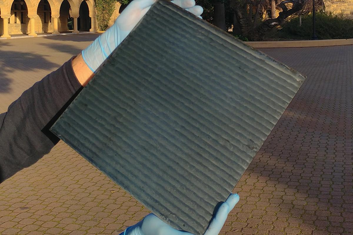 A sample of perovskite solar cell, produced using the new method