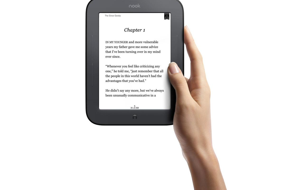 The new Nook Simple Touch Reader is 35 percent lighter and 15 percent thinner than the first edition Nook, and offers a best-in-class battery life
