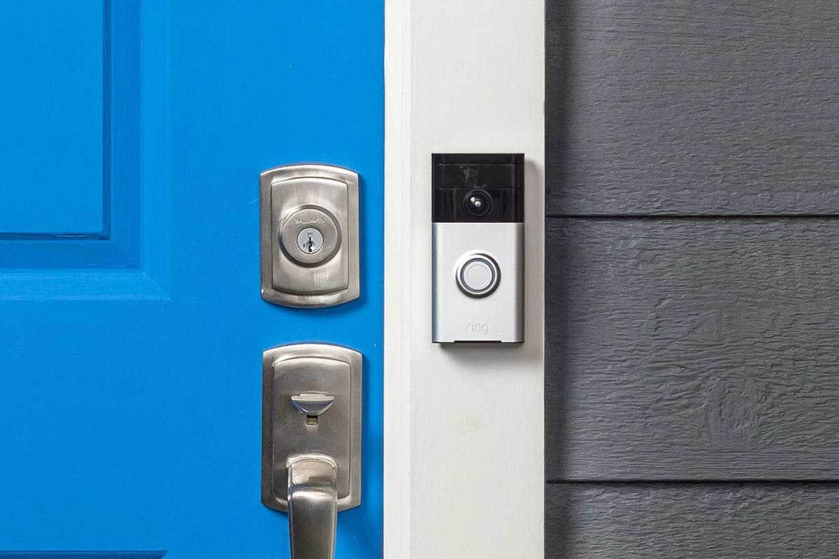 The Ring Video Doorbell connects to a home Wi-Fi network, to stream a two-way audio and video feed to a user's smartphone or tablet