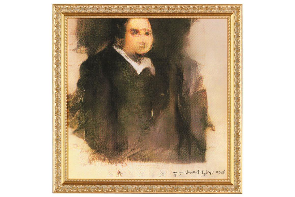 This piece of AI-generatedart sold at Christie's auction house for $432,000