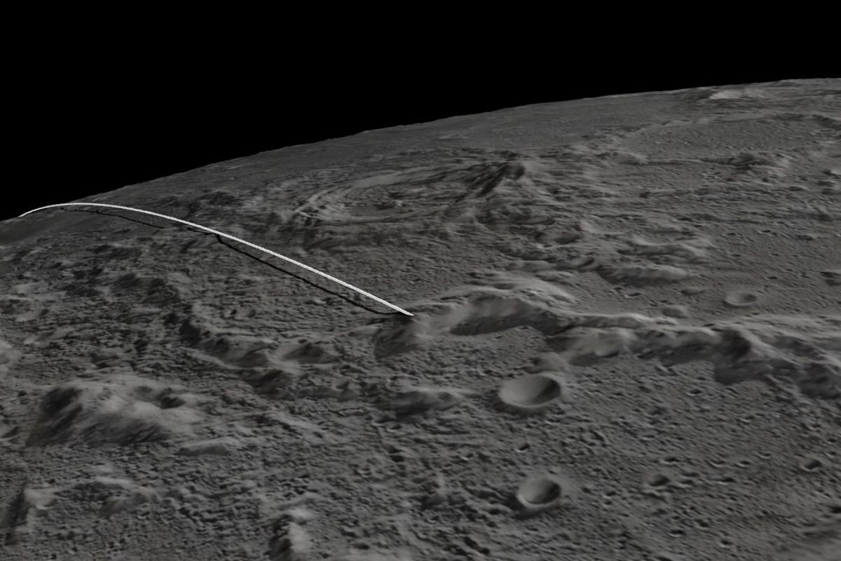 The impact point of the GRAIL spacecraft (Image: NASA/JPL-Caltech/GSFC/ASU)
