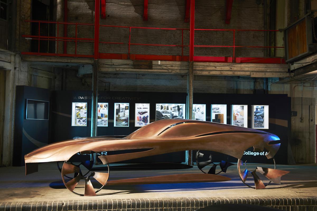 The new art installation expresses Jaguar's future design language