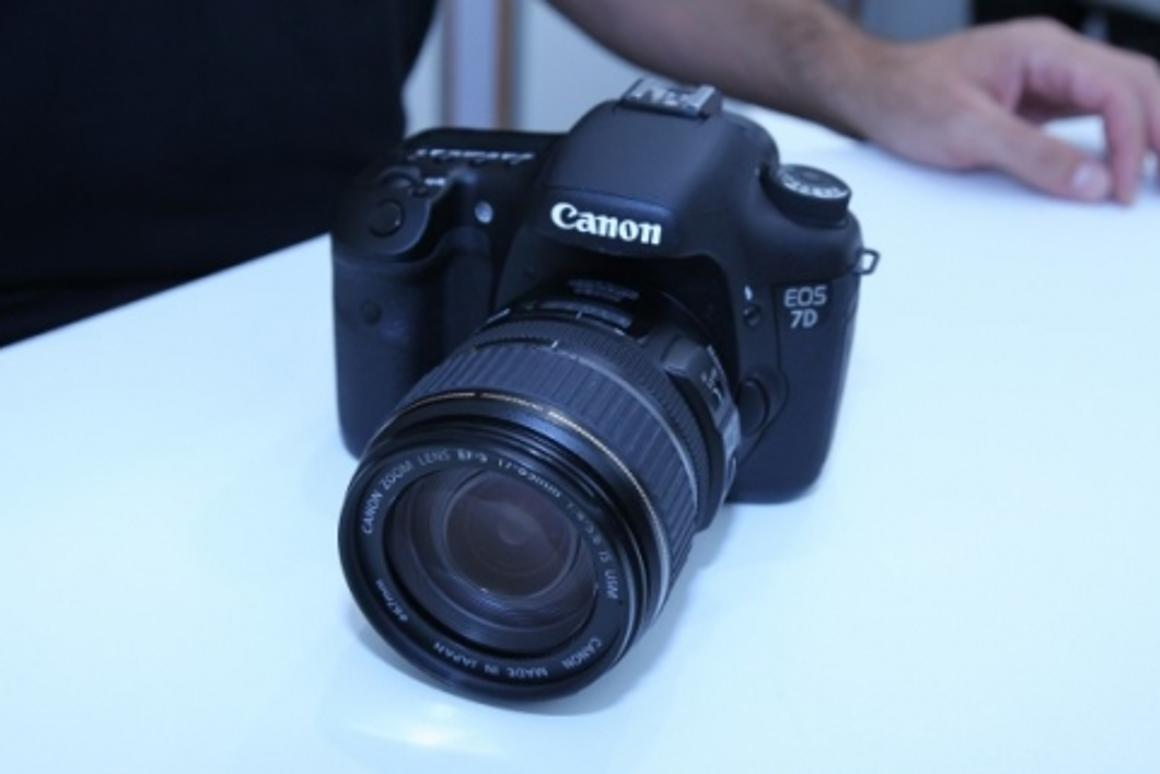 Canon is showing the new EOS 7D at IFA in Berlin