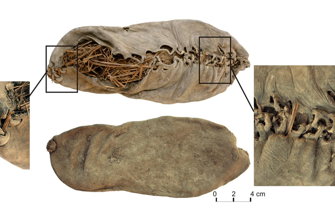 The 5,500 year old leather shoe discovered in Areni-1 in Armenia