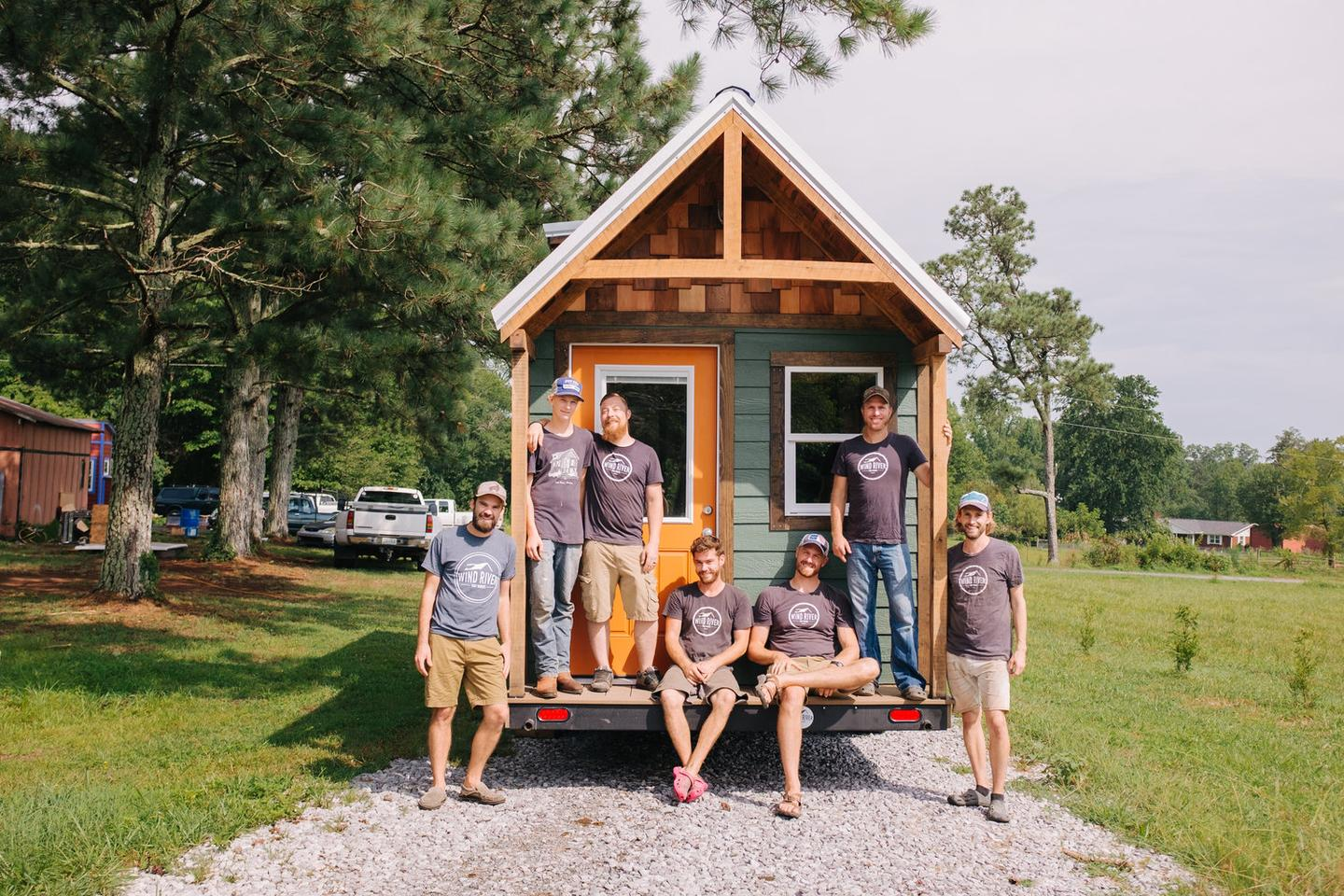 The Wind River Tiny Homes team with its Acadia tiny house