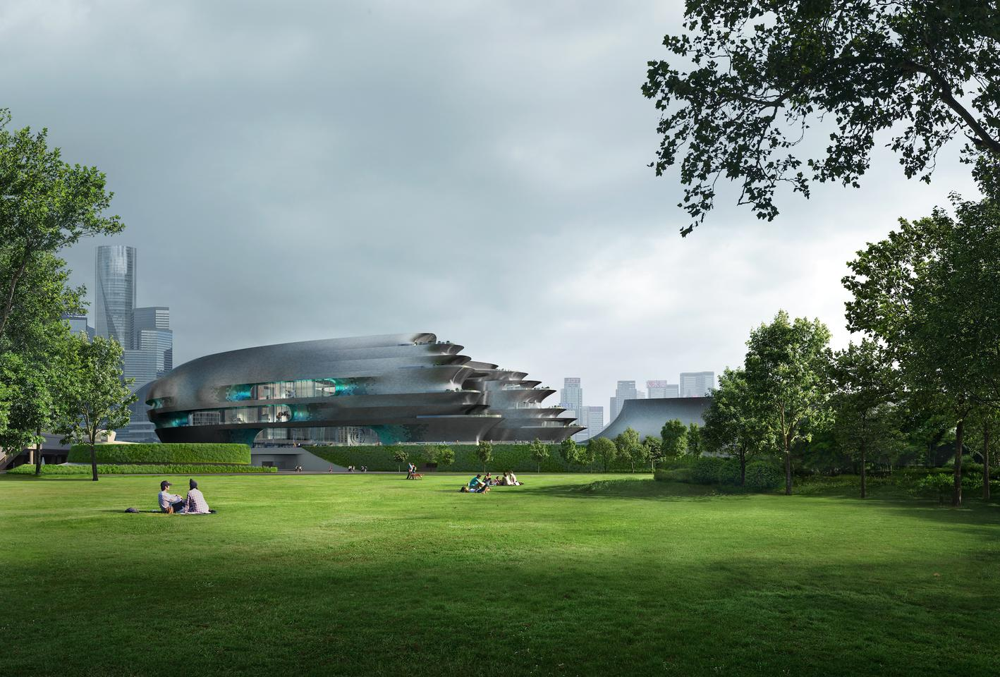 The Shenzhen Science and Technology Museum will measure around 125,000 sq m (roughly 1.3 million sq ft)