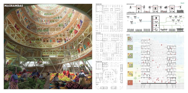 First place goes to Pawel Lipiński and Mateusz Frankowski for their Mashambas Skyscraper concept