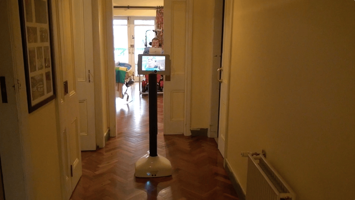 Anthony test drives the Teleport in his home